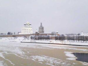 Псков кремль зима
